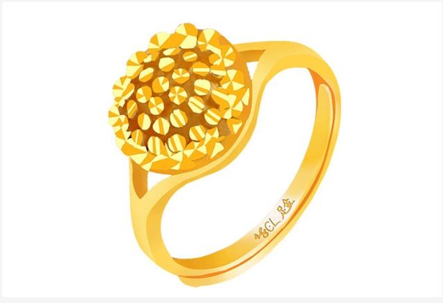Aliexpress Buy Pure 24K Yellow Gold Ring Women s Big Ring