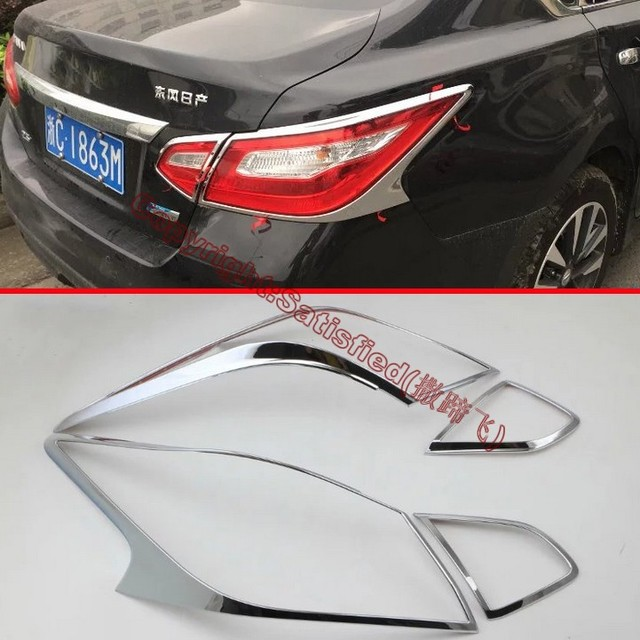 Charming ABS Chrome Tail Light Cover Trim For Nissan Altima 2016 2017