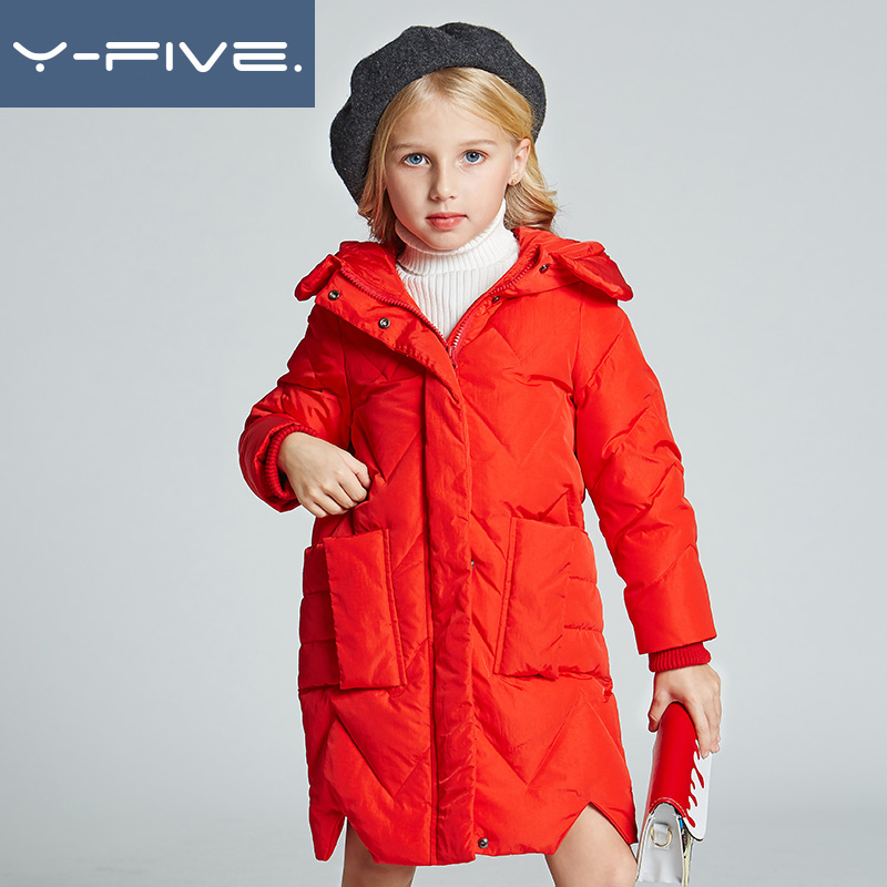 New 2018 Fashion Children Winter Jacket Girl Winter Coat Kids Warm Thick Hooded long down Coats For Teenage 5Y-14Y outwear 2017 new winter fashion women down jacket hooded thick super warm medium long female coat long sleeve slim big yards parkas nz18