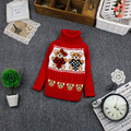 Free shipping cartoon bear baby sweater, turtleneck boys and girls pullover sweater#Y1496