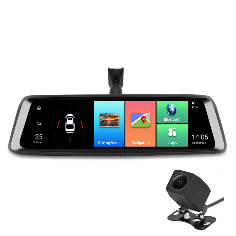 Dealcoo10' Touch Screen Special Android Mirror Dash Cam ADAS Car DVR Video Recorder Camera GPS Navigation Rearview Mirror Camera