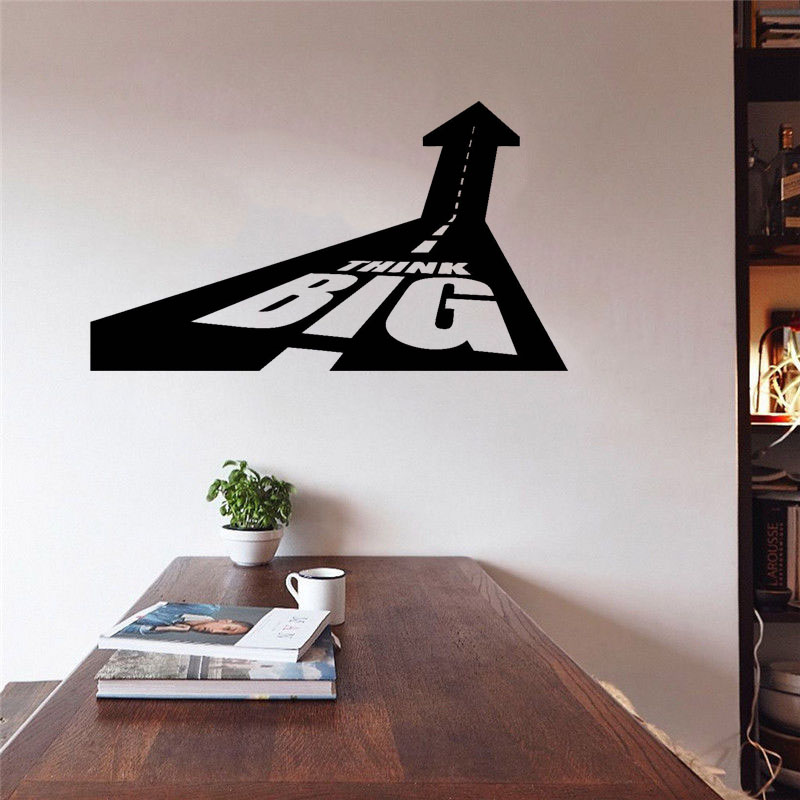 Vinyl Wall Decal Think Big Office Decoration Motivation Inspire Stickers