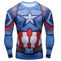 3D Printed T-shirts Captain America Civil War Tee Long Sleeve Compression Shirt Cosplay Costume Tops Male