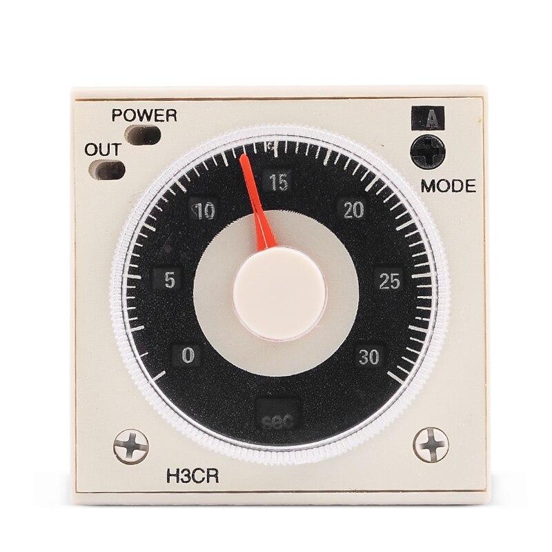 24 240V AC DC 1 2s to 300h Time Timer Delay Relay H3CR A8 8Pins Socket
