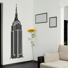 New York landmark Empire State Building vinyl wall decal office university dormitory living room home decoration CS18