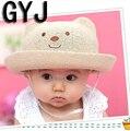 Детские шапки от 1 до 6 лет дети панда пляж вс девушки весна детский шляпу для девочки летнее солнце головные уборы для вс шляпы
