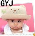 Panda do bebê chapéus de verão meninas 1 a 6 anos as crianças praia de natação sol meninas bonés chapéu infantil para o bebé chapéus de sol do bebê sol chapéus