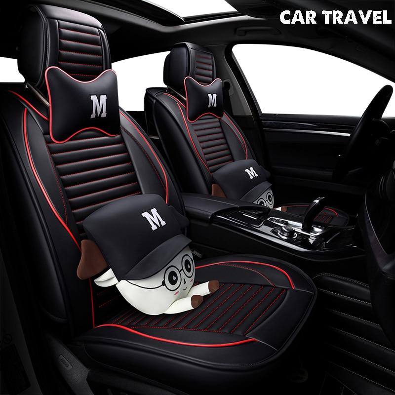 pu Leather car seat cover For bmw x5 e70 ford fiesta mk7 mazda 6 gh skoda kodiaq subaru xv opel auto accessories car-styling pu leather universal car cushion for mazda 6 gh cx 5 opel zafira b bmw f30 vw passat b6 solaris hyundai bmw x5 car seat cover