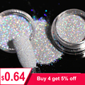 1Box 1g Holographic Glitter Powder Shining Sugar Nail Glitter Hot Sale Dust Powder for Nail Art Decorations