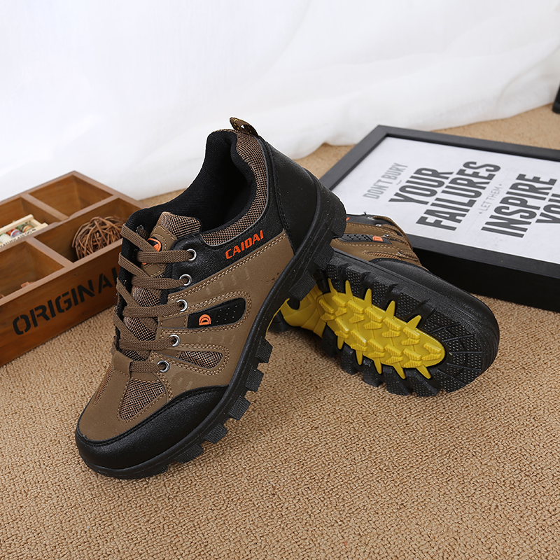 Men's Waterproof Hiking Shoes Travel Shoes Autumn Outdoor Non-slip Wear Sneakers Men Lace Up Trekking Climbing Sports Shoes Male(China)