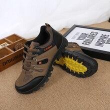 Мужская непромокаемая походная обувь для путешествий Осенняя уличная Нескользящая одежда кроссовки мужские на шнуровке треккинг альпинистская спортивная обувь мужские