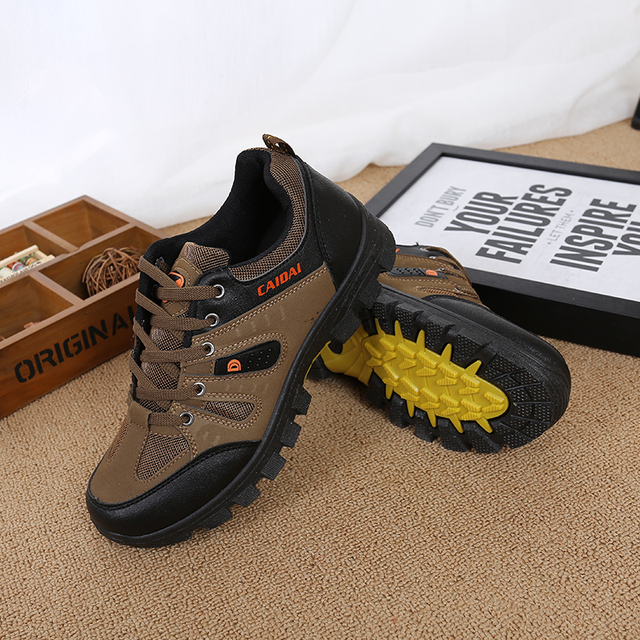 Men's Waterproof Hiking Shoes Travel Shoes Autumn Outdoor Non-slip Wear Sneakers Men Lace Up Trekking Climbing Sports Shoes Male