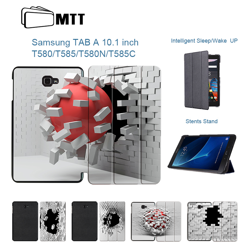 MTT Blasting Wall Case For Samsung Galaxy Tab A A6 10.1 2016 T580 T585 SM-T580 T580N Case Cover Magentic Tablet Flip Stand Funda все цены