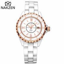 NAKZEN Brand Fashion Casual Women Quartz Watches Waterproof Ceramic Watch Female Clock Girl Gift relogio feminino Wristwatch