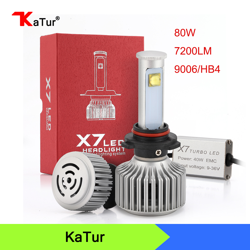 New X7 All-in-One Auto Car Headlights 9006/HB4 Led Auto Front Fog Light Bulb White 6000K Plug&Play 9006 Led Automotive Headlamp