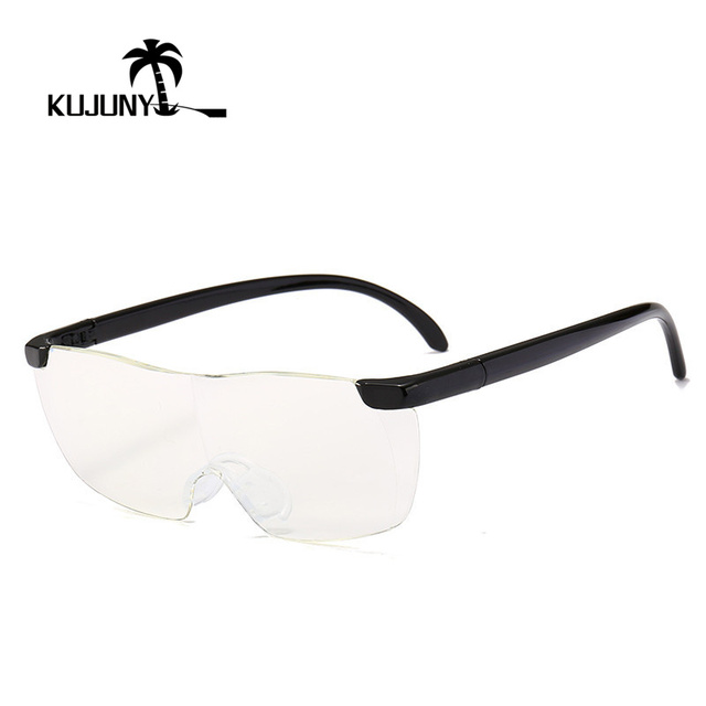KUJUNY Zoom in 1.6 times +250 Degrees Reading Glasses Big Vision Magnifying 1.6 Presbyopic Glasses Magnifies Vision Lens