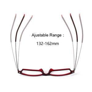 Image 2 - Reven Jate 7011 Full Rim Flexible Frame Pure Titanium Super Light Temple Legs Prescription Eyeglasses Frame Optical Glasses