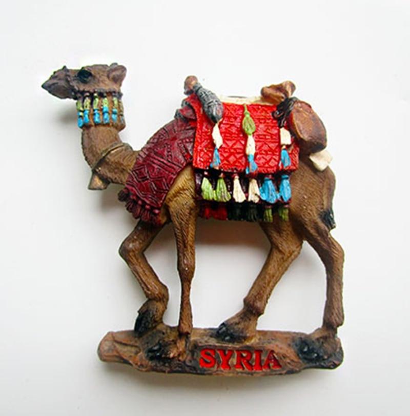 Vysoce kvalitní ruční 3D sýrská velbloudí lednička magnet cestovní cestovní suvenýry kreativní lednička magnetické nálepky domácí dekorace
