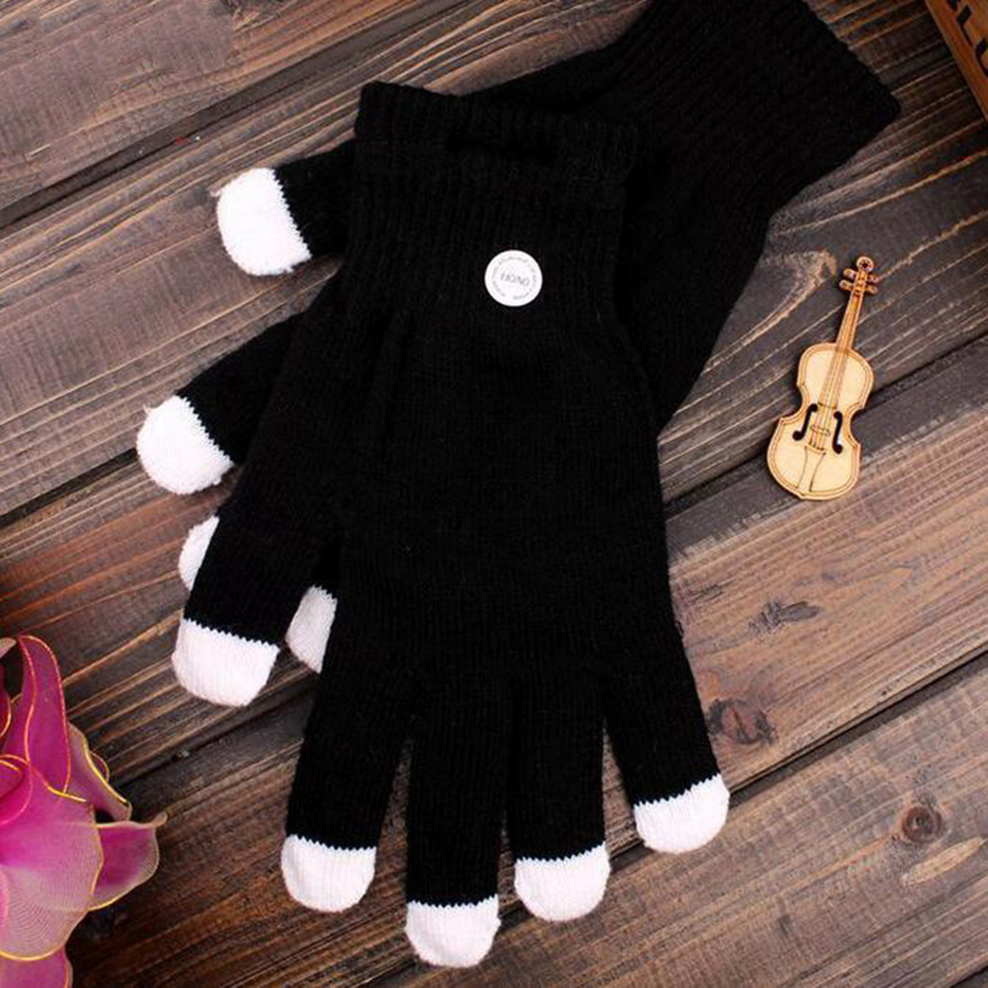 New Magic Flash Fingertip Led Gloves Unisex Light Up Glow Stick Gloves Mittens Fingertip Led Luminous Gloves Apparel Accessories