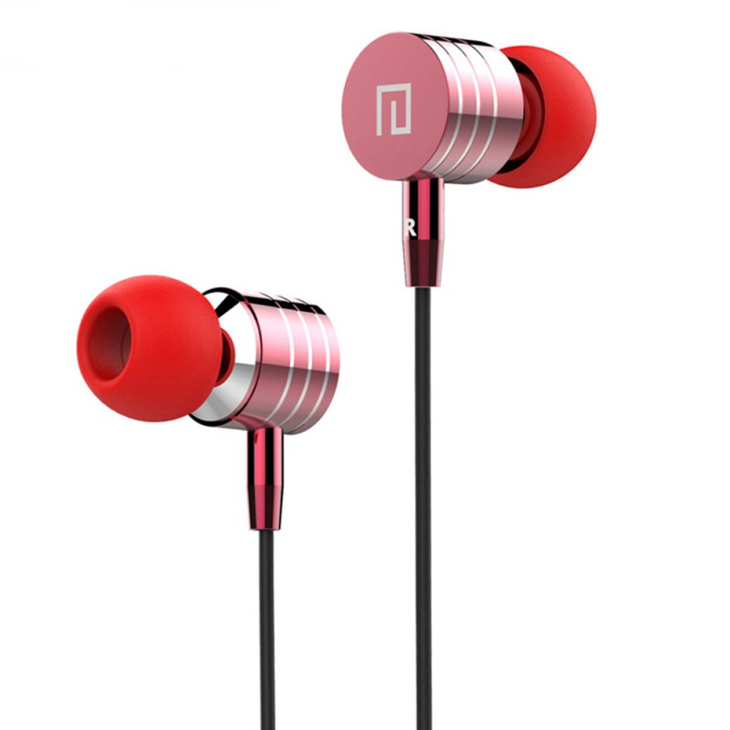Stereo Bass Headset In-Ear Metal Earphones Handsfree with Mic3.5mm Earbuds for All Mobile Phone MP3 MP4 Hot Sale stereo sport earphones waterproof ipx5 ecouteur high quality handsfree in ear headset 3 5mm earbuds with mic for all phone