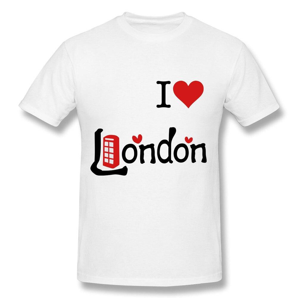 Shirt design london - T Shirt Men Cool I Love London Uk Summer Cotton Clothing Male Casual T Shirts Fashion Design Tops Tees For Men Short Sleeve