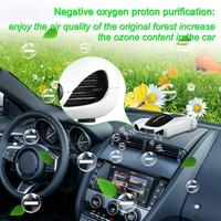 Solar Power Car Air Purifier Ionizer Ionic Air Freshener Aroma Diffuser PM2.5 Odor Eliminator Car Accessories Car Styling