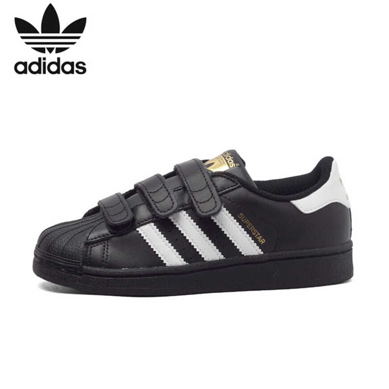 US $48.65 65% OFF ADIDAS SUPERSTAR FOUNDATION Original Kids Skateboarding Shoes Breathable Light Children Sports Outdoor Sneakers #BZ0418 in Sneakers