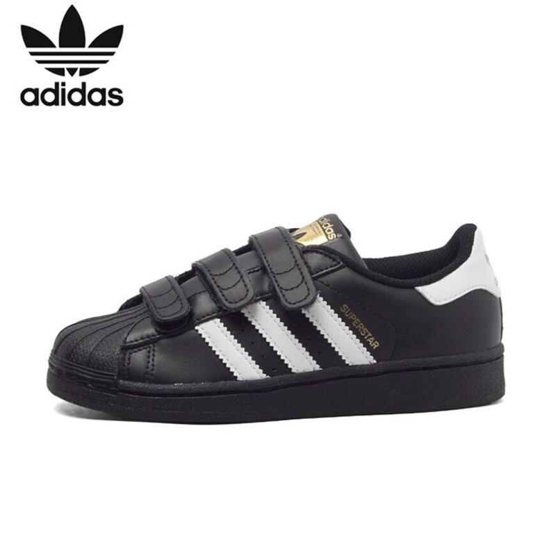 ADIDAS SUPERSTAR Crianças Originais Sapatos Leves Sapatos de Skate Respirável Crianças Sneakers # B26070 B26071