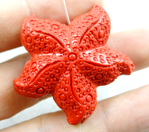 Natural stone Quartz crystal Cinnabar Red Organic Cinnabar Five- pendant for diy jewelry making Necklace Accessories S15