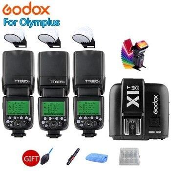 3X Godox Camera Flash TT685O 2.4G HSS TTL GN60 Speedlite + X1T-O Trigger Transmitter for Olympus Panasonic P5 PL5 PL6 PL7 PL8 M1