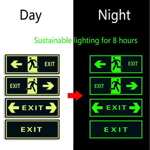 Image 3 - Luminous Tape Self adhesive Glow In Dark Sticker For Exit Sign Walls Safety Stage Night Vision Home Decoration Tape