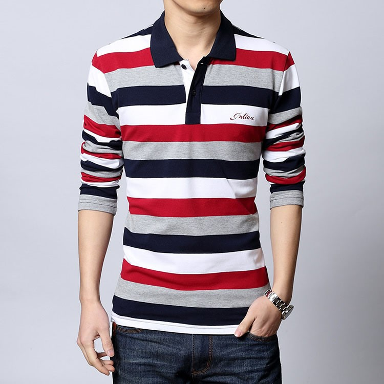 Polo shirt men Letter Embroidered Strip Polo Shirt 2016 Summer brand Turn-down Collar Casual Cotton Polo Shirt  Plus Size M-5XL (10)
