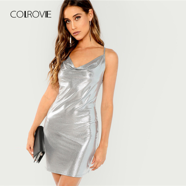 Silver Metallic Dress
