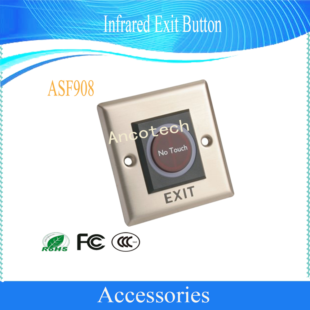 Dahua Free Shipping Security Access Control Accessories Infrared Exit Button Without Logo ASF908