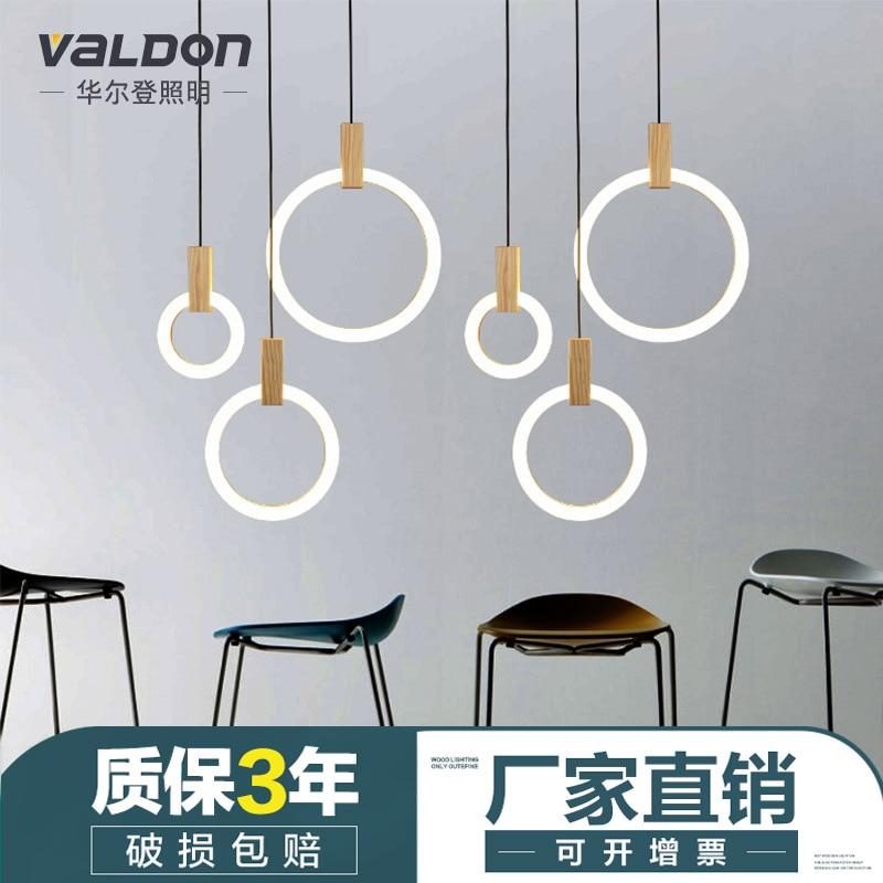 Modern Single Ring Pendant Lights Arts Decoration Loft Lamp Antique Gold Suspension Hanglamp for Bedroom Dining Room Study