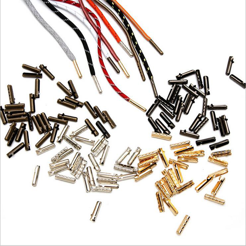 Leather End Clasps Caps Silver/Gold/ Bronze Fold Over Crimp Cord Ends Connector For Shoes Cord Waist Cord Making Accessories