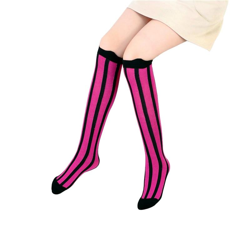 91189245708 Kids Socks Knee High Toddler Girls Boot Sock Leg Warmer Cute Stripe Baby  Solid Cotton Sock