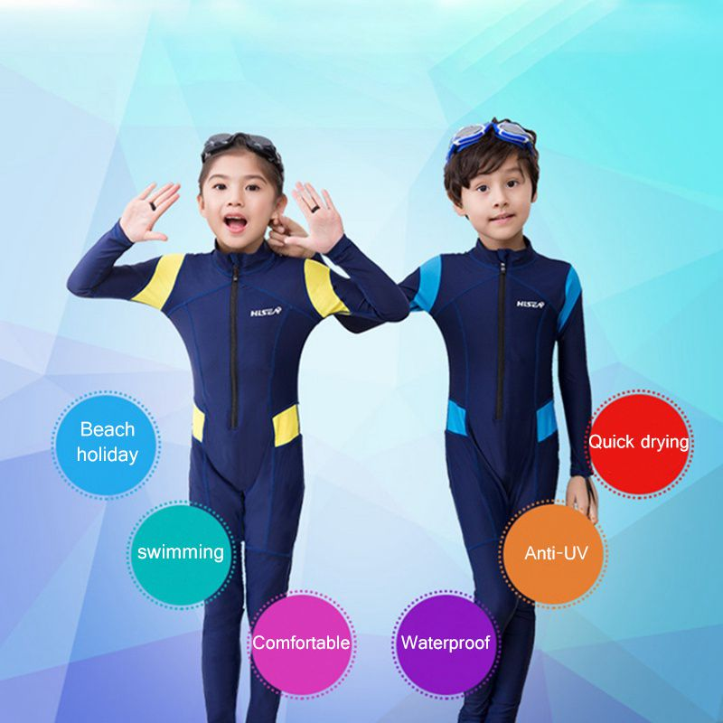 T Neoprene Long Sleeves Kids Wetsuits Diving Suits For Boys/Girls Children Rash Guards One Pieces Surfing Swim Snorkel Children