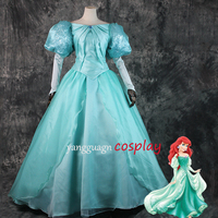 The Little Mermaid Ariel adult dress Princess Ariel green gown Dress for adult Cosplay Costume Tailor made