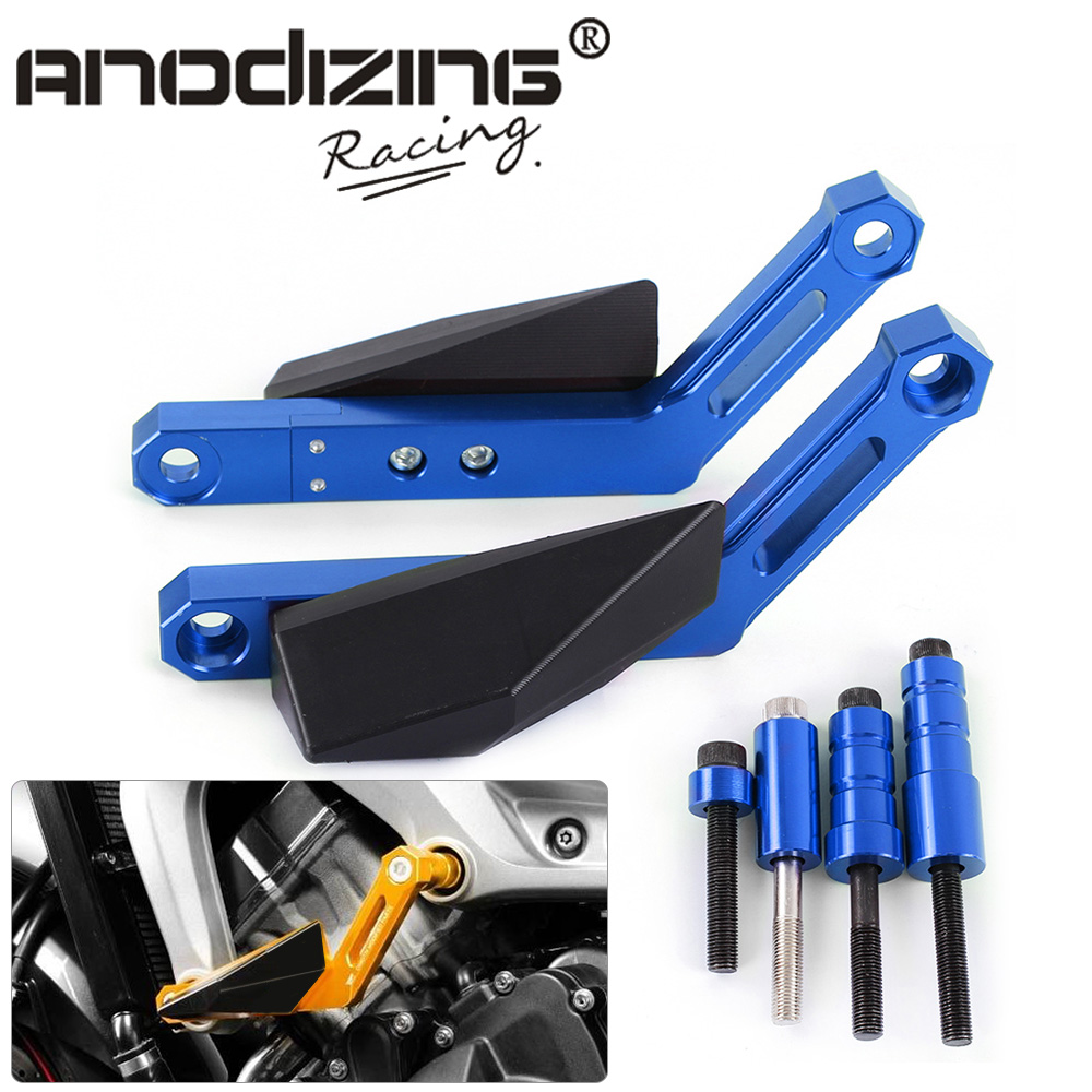 NEW FREE SHIPPING Anti Crash Protectors Motorcycle For YAMAHA MT-09 MT09 TRACER FZ09 Frame Sliders Crash Falling Protection motorcycle frame sliders crash falling protection anti crash protectors for mt09 fz09 mt 09 fz 09 fz mt 09 2013 2014 2015 2016