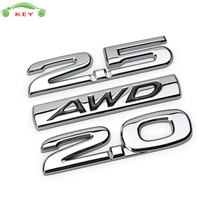 Metal Car Sticker for Buick Regal Volvo Mazda CX4 CX5 CX7 CX9 Lincoln Subaru Lada 2.0 2.5 AWD Auto Body Rear Letter Emblem Badge