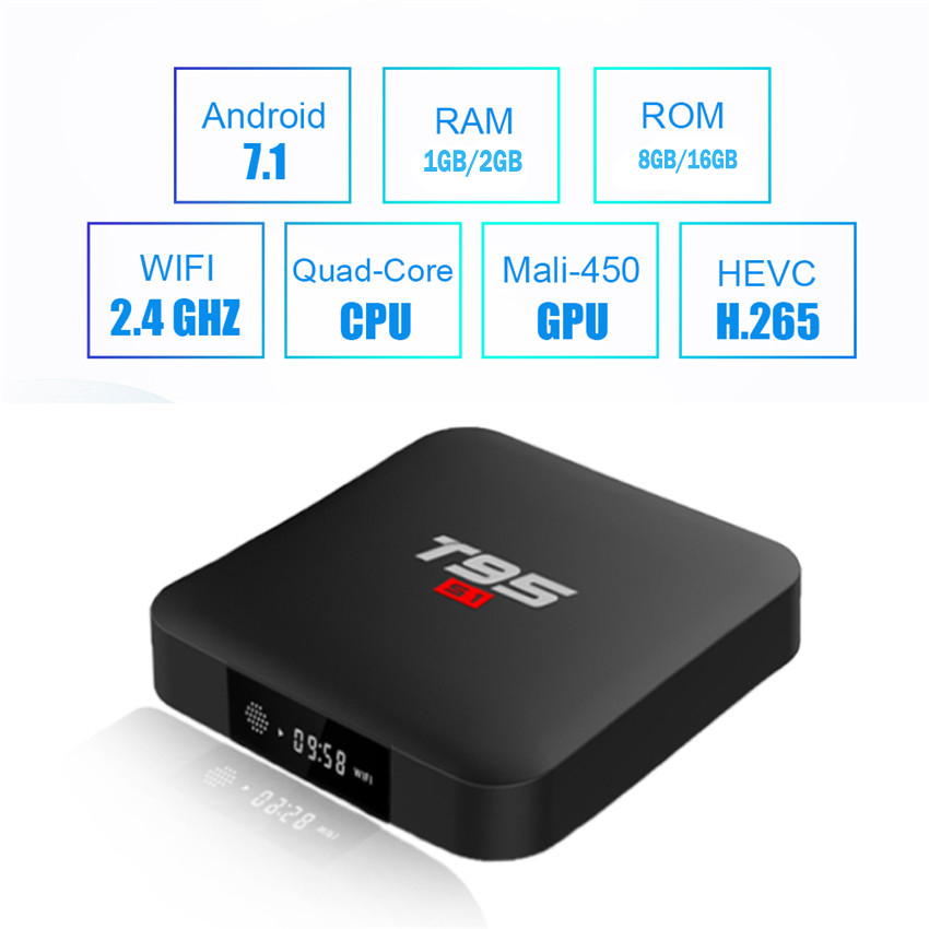 US $8 74 |Cheap T95s1 Android 7 1 TV Box Quad Core S905W Amlogic Network  WIFI HD 4K Media Player 100Mbps Lan Mini Home video Theatre-in Set-top  Boxes