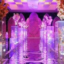 4 шт./лот Кристальный цветок/украшение на свадьбу Ваза акриловая Свадебная колонна цветок Подставка Для Свадебные украшения