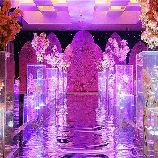 4 pcs/lot mariage cristal fleur Vase acrylique mariage colonne fleur Stand pour mariage pièce maîtresse décoration