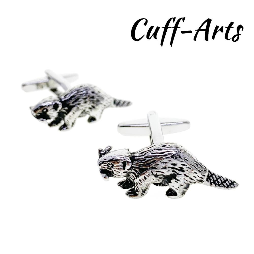 Cufflinks For Men Beaver Cufflinks Gifts For Men Bouton De Manche Gemelos Gemelli Spinki By Cuffarts C10412