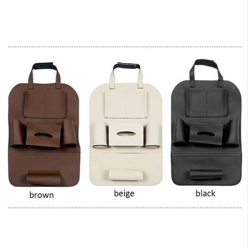 DNHFC Car Seat Leather Multi Function Storage Bag For BMW