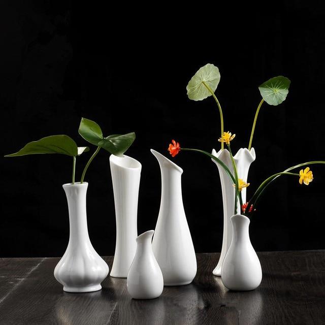 Ceramic White Vase Decoration Modern Brief Home Decoration Soft