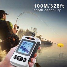 Fish Finder Sonar FF718 Top Quality Fish Finder Portabl Fishing Sounder English Russian Menu Detecting Range Rushed
