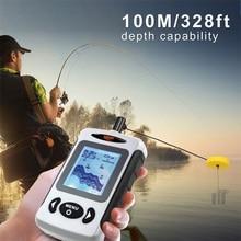 Fish Finder Sonar FF718 Top Quality Fish Finder Portabl Fishing Sounder English Russian Menu Detecting Range Rushed