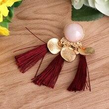 Bohemian Drop Tassel Earrings for Women 6 Colors Fashion Jewelry Statement